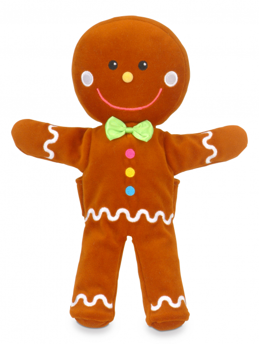 Set de papusi si marionete Omul de turta dulce / Gingerbread Man Hand and Finger Pupper Set 3