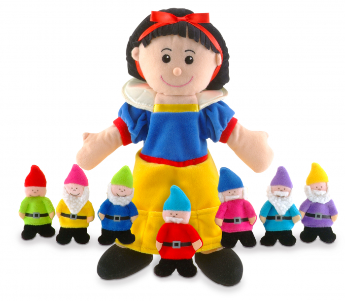 Set papusa si marionete Alba ca Zapada si cei 7 pitici / Snow White and the Seven Dwarfs - Fiesta Crafts 0