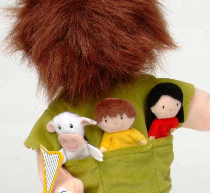 Set Papusa si marionete Jack si vrejul de fasole / Jack and the Beanstalk Hand - Fiesta Crafts 2