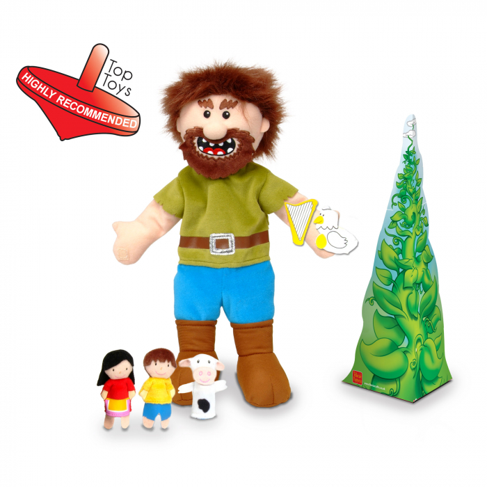 Set Papusa si marionete Jack si vrejul de fasole / Jack and the Beanstalk Hand - Fiesta Crafts 1