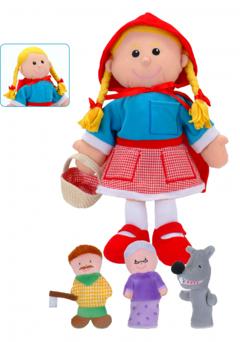 Set Papusa si marionete Scufita Rosie / Red Riding Hood - Fiesta Crafts 2