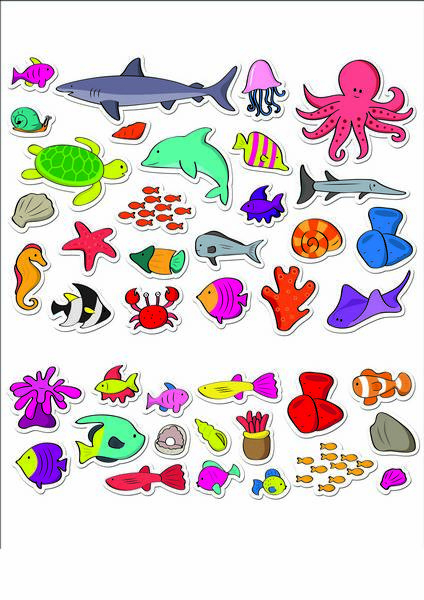 Stickere acvariu / Aquarium - Fiesta Crafts 5