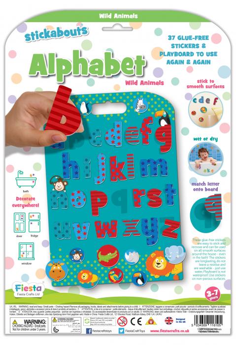 Stickere cu litere / Wild Animals Alphabet Stickabouts 1