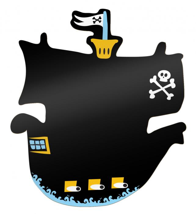 Tabla corabia piratilor / Pirate Ship Chalkboard - Fiesta Crafts 0
