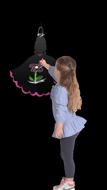Tabla Printesa / Princess Chalkboard - Fiesta Crafts 0