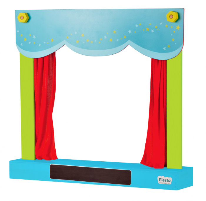 Teatru de papusi si magazin 2in1 / Carry Case Hand Puppet Theatre & Shop 2