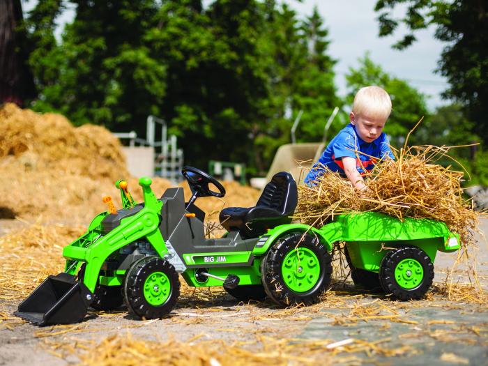 Tractor Big Jim cu pedale cupa si remorca [5]