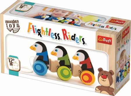 3 Pinguini din lemn cu roti si snur [1]