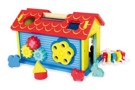 Casa din lemn cu forme si animale de sortat [2]