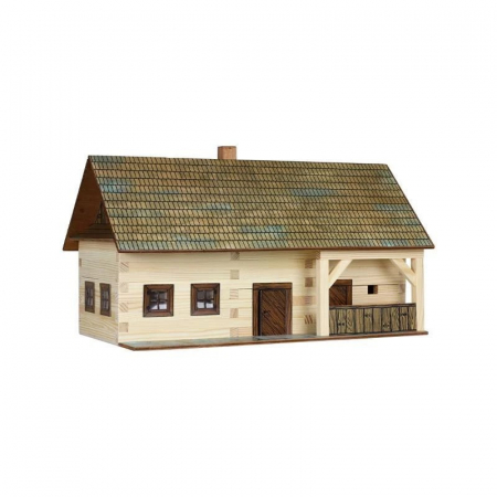 Set constructie arhitectura Casa de la tara, 174 piese din lemn, Walachia0