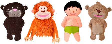 Set papusa si marionete - Cartea Junglei / Jungle book hand&finger puppet set [2]