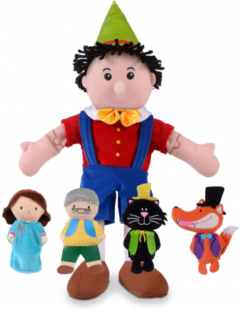 Set papusa si marionete - Pinochio / Pinocchio hand and finger puppet set0