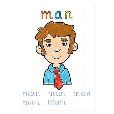 Carte de colorat cu abtibilduri Primele cuvinte / FIRST WORDS5