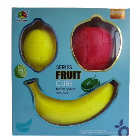 Cub Rubik - Set 3 fructe5