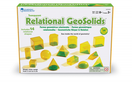 Forme geometrice Geosolids - jucarie educativa Learning Resources0