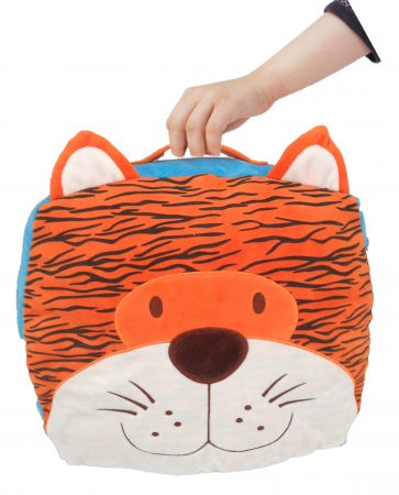 Gentuta multifunctionala Tigru / Tiger Cush N Case - Fiesta Crafts3