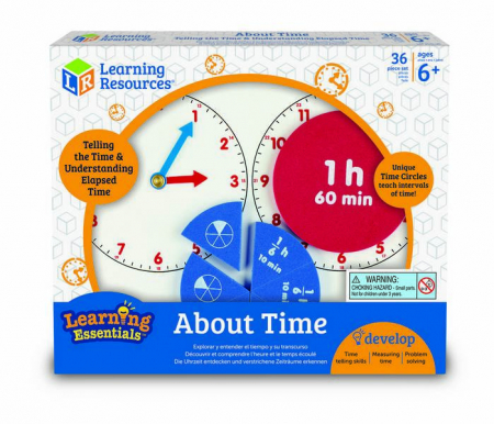 Invatam timpul si fractiile - joc educativ Learning Resources0