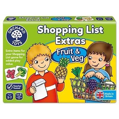 Joc educativ in limba engleza Lista de cumparaturi Fructe si legume2