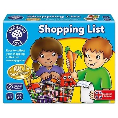 Joc educativ in limba engleza Lista de cumparaturi SHOPPING LIST3