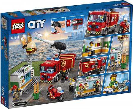LEGO CITY STINGEREA INCENDIUL DE LA BURGER BAR 60214 [8]