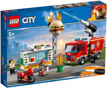 LEGO CITY STINGEREA INCENDIUL DE LA BURGER BAR 60214 [0]