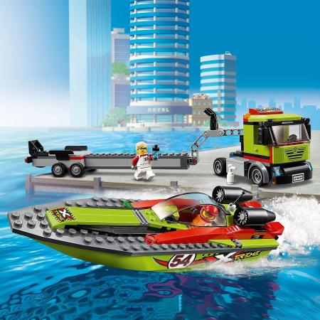 LEGO CITY TRANSPORTOR DE BARCA DE CURSE 60254 [4]
