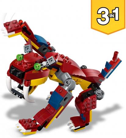 LEGO CREATOR DRAGON DE FOC 31102 [3]