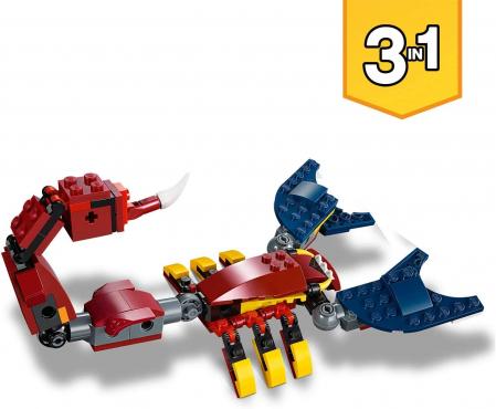 LEGO CREATOR DRAGON DE FOC 31102 [4]