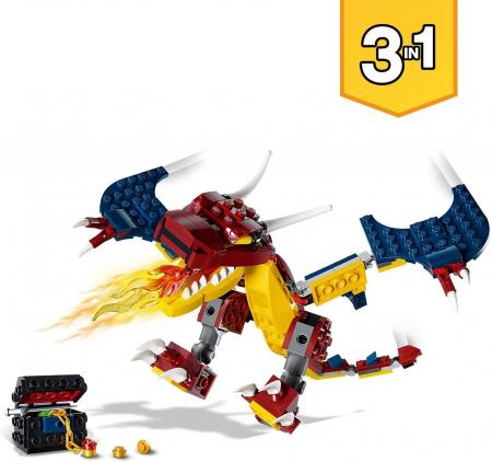 LEGO CREATOR DRAGON DE FOC 31102 [5]