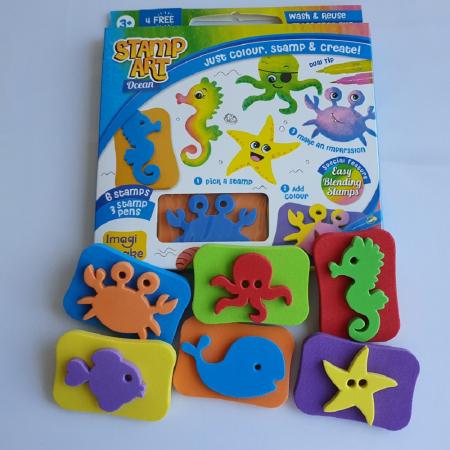 Set creativ cu stampile - Ocean2