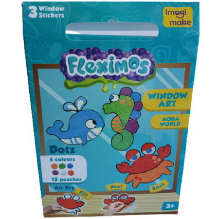 Set creativ stickere pentru fereastra – Aqua World0