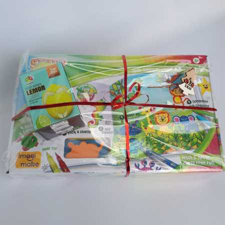 Cadou 3-5 ANI - Set Creativ cu stampile + Cub Rubik Lamaie1
