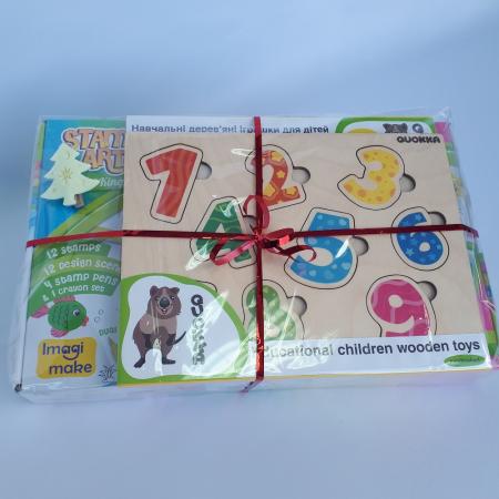 Cadou 3-5 ANI - Set Creativ cu stampile + 2 Puzzle lemn1