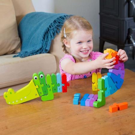 Puzzle Alfabet - Crocodil3