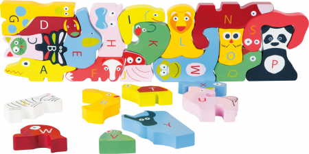Puzzle alfabet cu animale / Wooden ABC Puzzle Educate3