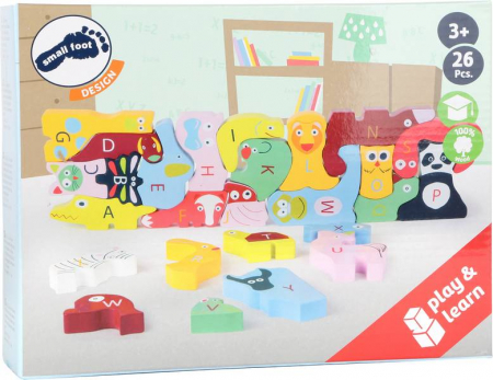 Puzzle alfabet cu animale / Wooden ABC Puzzle Educate4