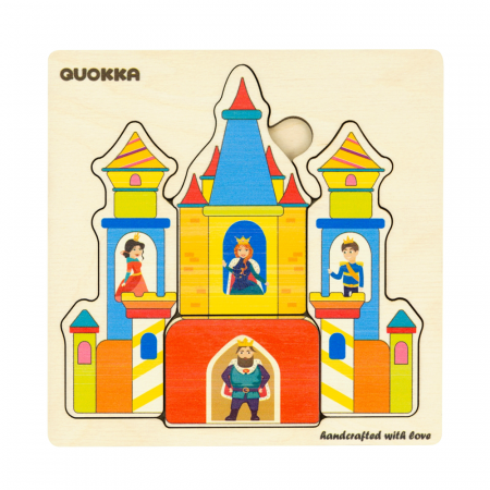 """Puzzle """"Castelul"""" - jucarie educativa Quokka1"""