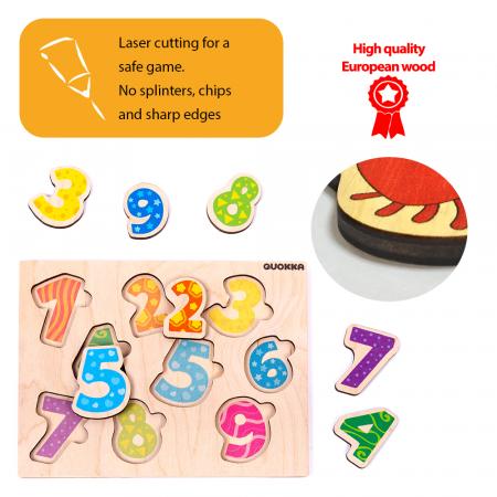 Puzzle Cifre - jucarie educativa Quokka [4]