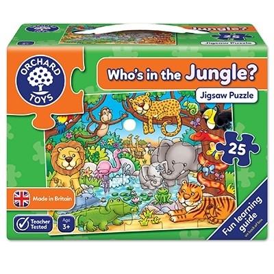 Puzzle cu activitati Cine este in jungla? WHO'S IN THE JUNGLE?0