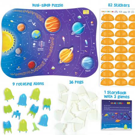 Puzzle cu doua fete - Sistemul Solar [2]