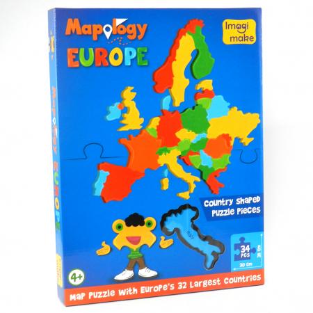 Pachet Puzzle educativ din spuma: Harta Lumii + Harta Europei - Imagimake2