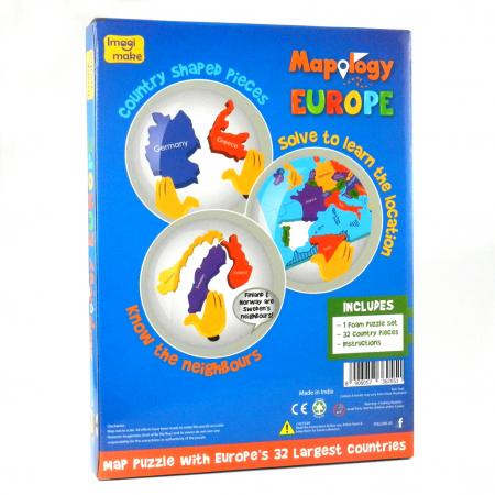 Pachet Puzzle educativ din spuma: Harta Lumii + Harta Europei - Imagimake4