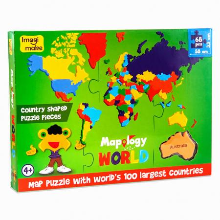 Pachet Puzzle educativ din spuma: Harta Lumii + Harta Europei - Imagimake1