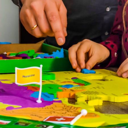 Puzzle educativ din spuma EVA - Harta lumii - steaguri si capitale4