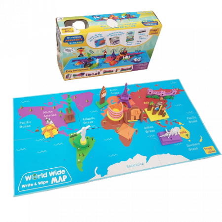 Puzzle educativ Harta lumii - Monumente - din spuma Eva2