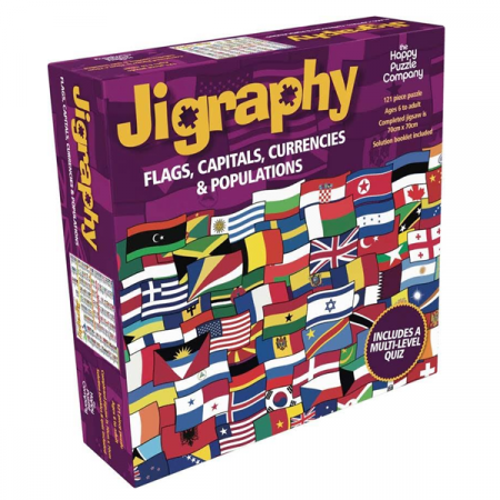 Puzzle educativ Steaguri, Capitale, Monede si Populatii / Jigraphy Flags, Capitals, Currencies & Populations0