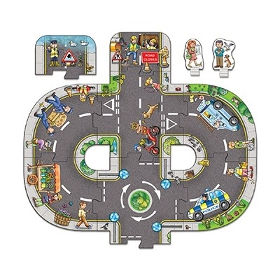 Puzzle gigant de podea Intersectii (10 piese) GIANT ROAD EXPANSION PACK JUNCTION1