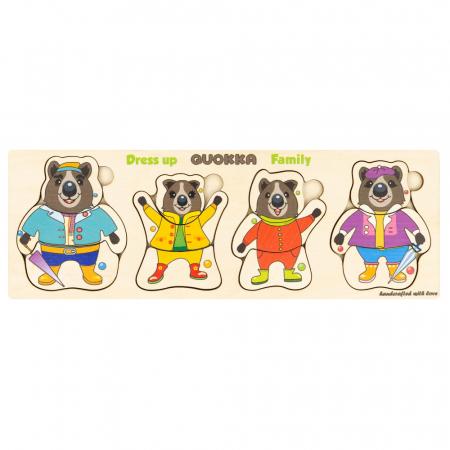 Puzzle lemn Familia de ursuleti - Quokka1