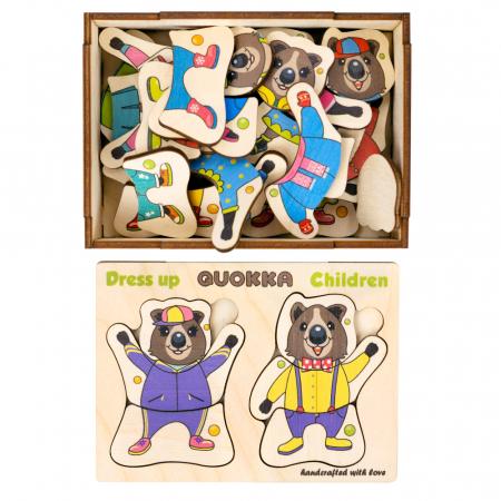 Puzzle lemn Puii de ursuleti - Quokka0