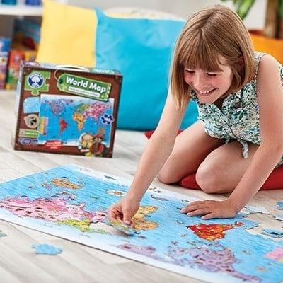 Puzzle si poster Harta lumii (limba engleza 150 piese) WORLD MAP PUZZLE & POSTER7